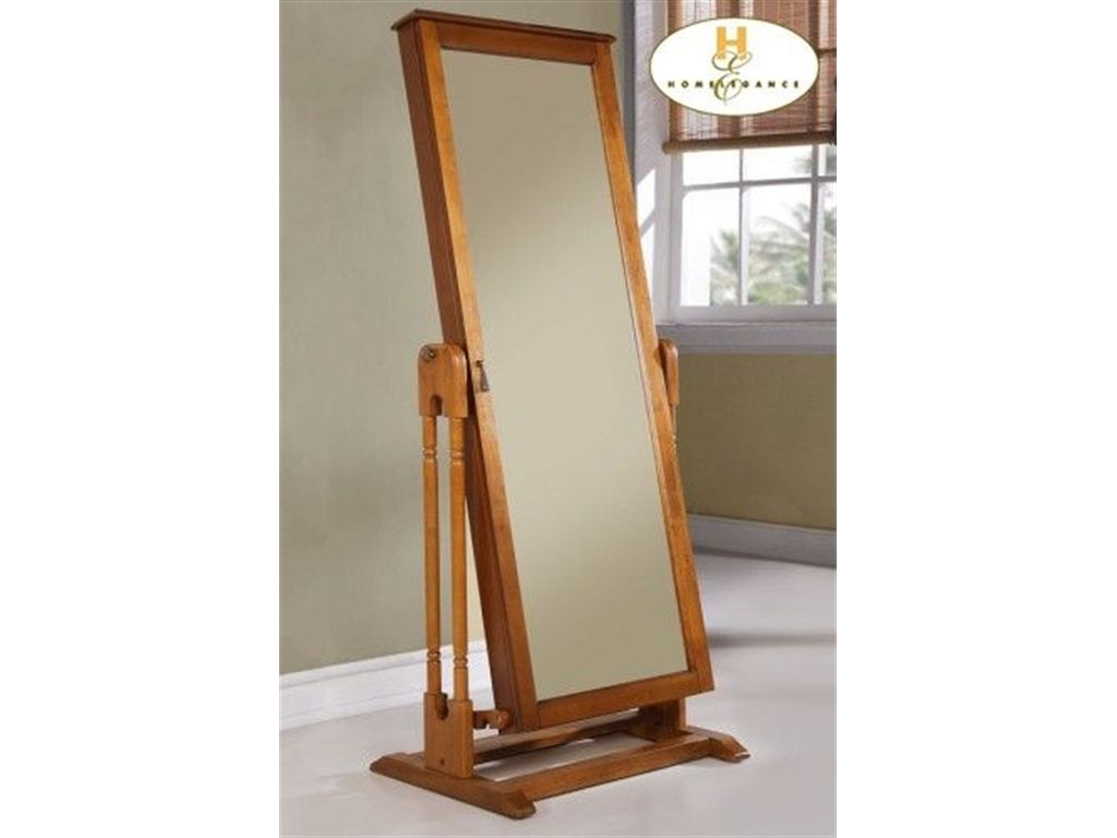 Homelegance Accessories Cheval Mirror With Jewelry Storage, Oak .