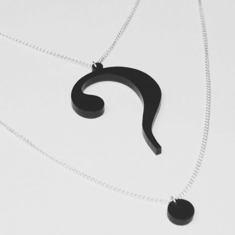 Question mark necklace by f comme my future jewels pinterest question mark necklace by f comme aloadofball Choice Image