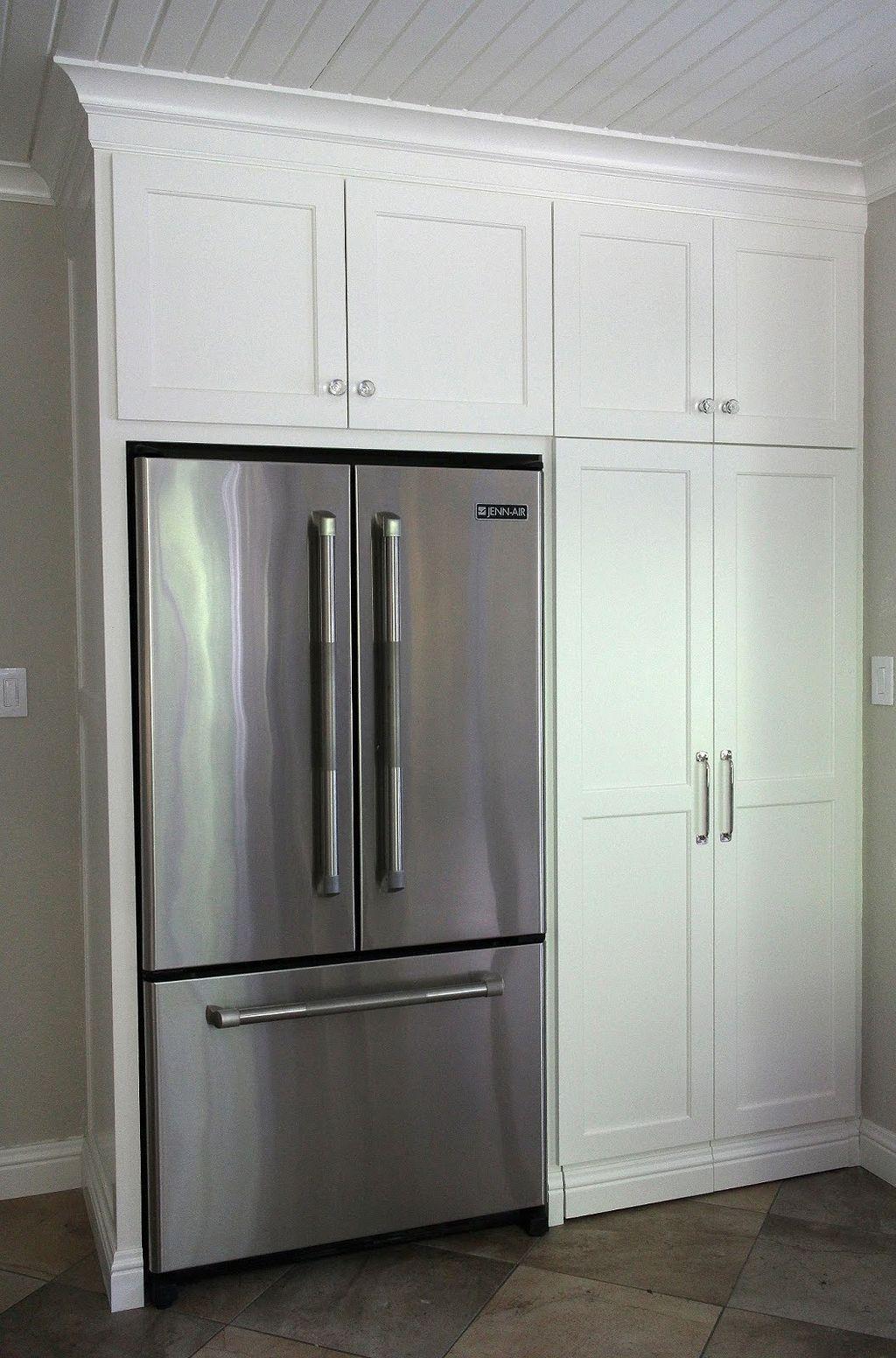 Built In Kitchen Pantry Around Refrigerator 2 Built In Pantry Kitchen Remodel Small Pantry Cabinet