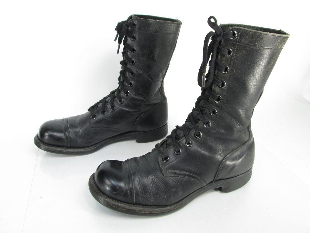 ccb38501d2da4 Men's Vintage BF Goodrich Black Leather Cap Toe Combat Military ...