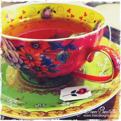 Gorgeous tea cup and saucer!    visual photo interview by traci bautista #tea