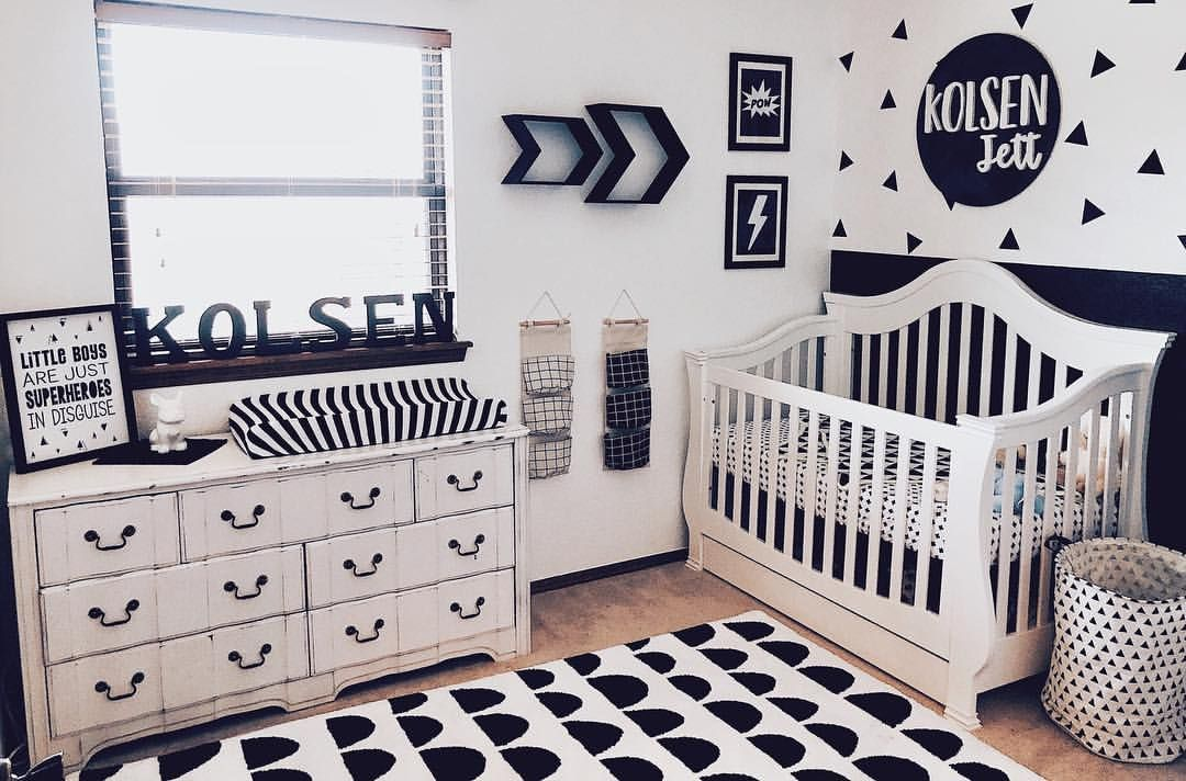 M Monochrome Nursery Decor