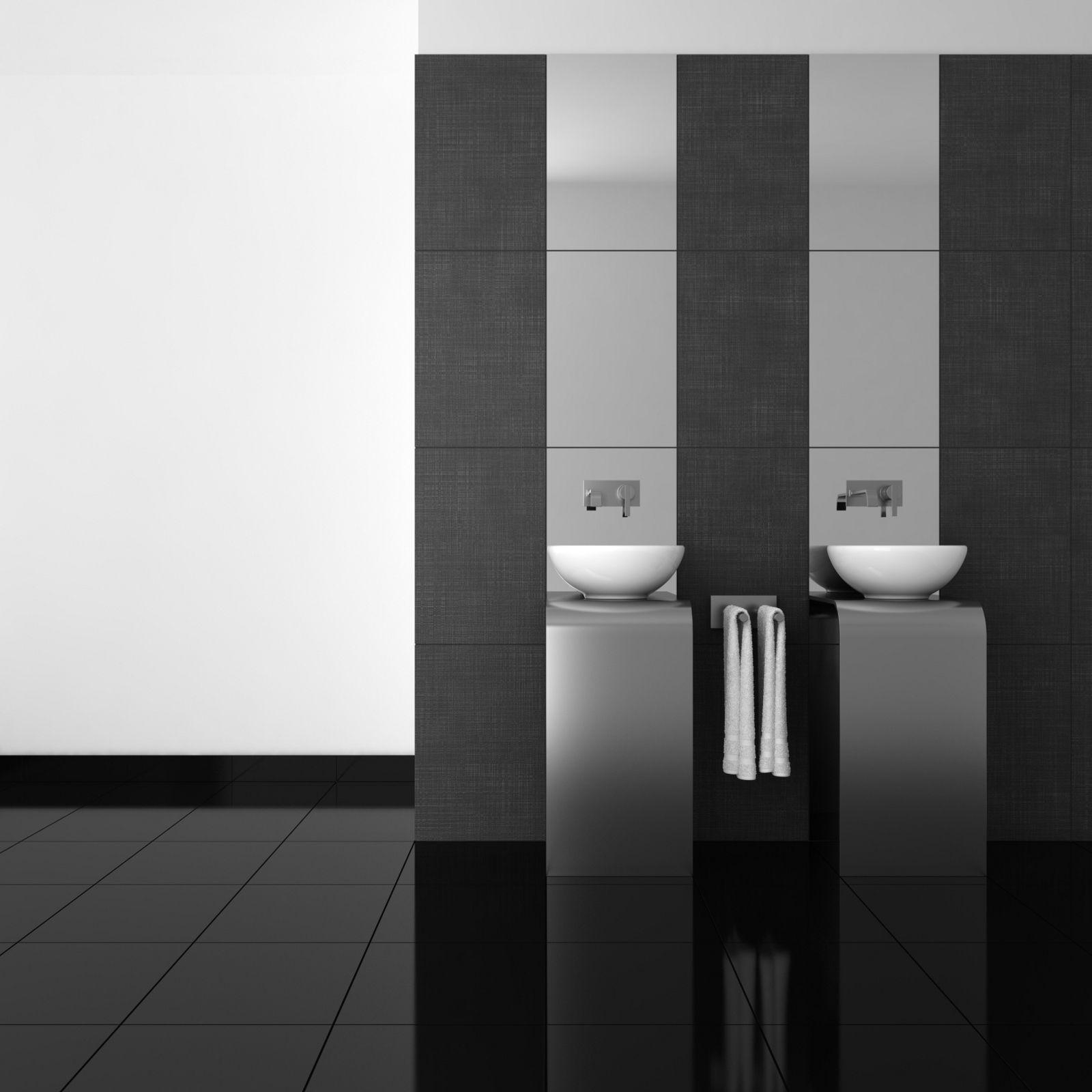 Dise o de ba os modernos negro ba o pinterest blanco for Disenos de banos modernos