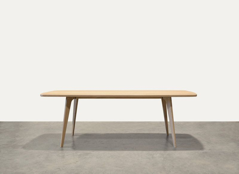 Een ontwerp van oormerk tafel type fjord retro scandinavische tafel van massief eiken - Tafel een italien kribbe ontwerp ...
