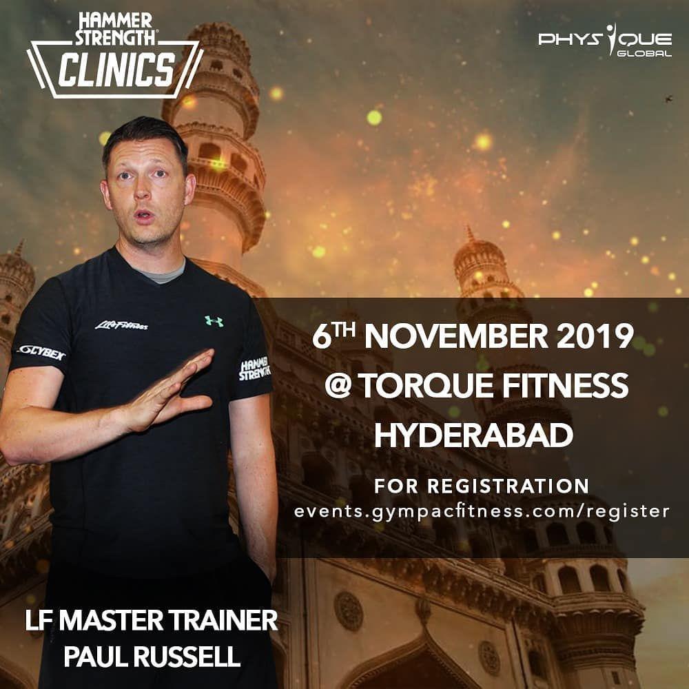 Hammer Strength Clinic 2019: . Date- 6th November @torquefitnessopdss . Hyderabad . Be a part to enr...