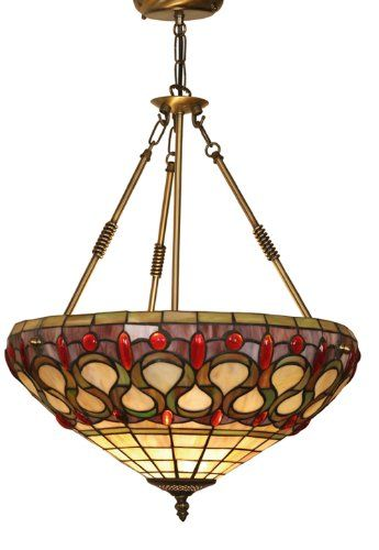 Oberon Tiffany Uplighter Pendant Amazoncouk Lighting Lampen Buntglaslampen