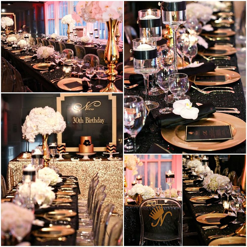 Black And Gold 30th Birthday Party Ideas 30th birthday