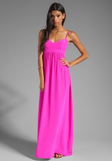 c7c27498f0580 AMANDA UPRICHARD Silk Gown in Hot Pink at Revolve Clothing - Free ...