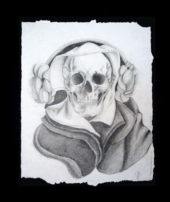 skull designed by federica cavagnini unique piece no 3 technique