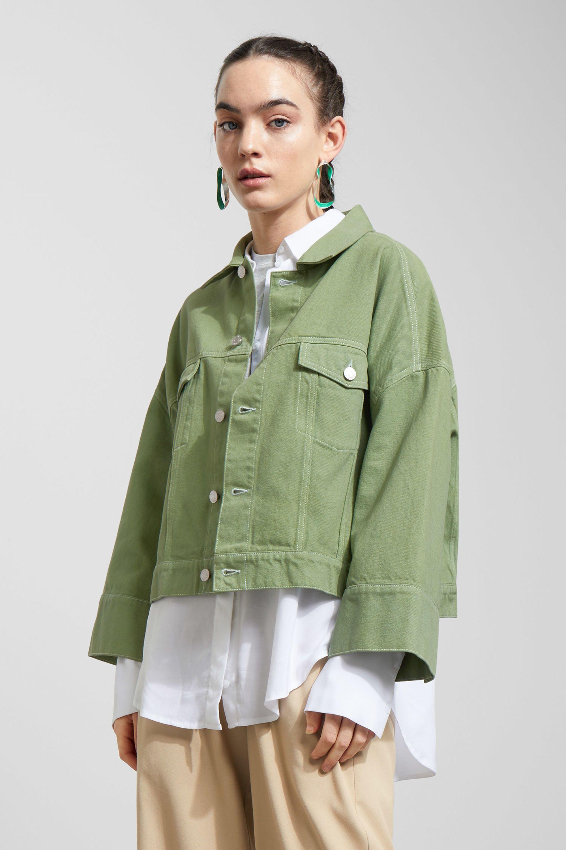 Tempera Jacket Dusty Green Jackets Weekday Gb