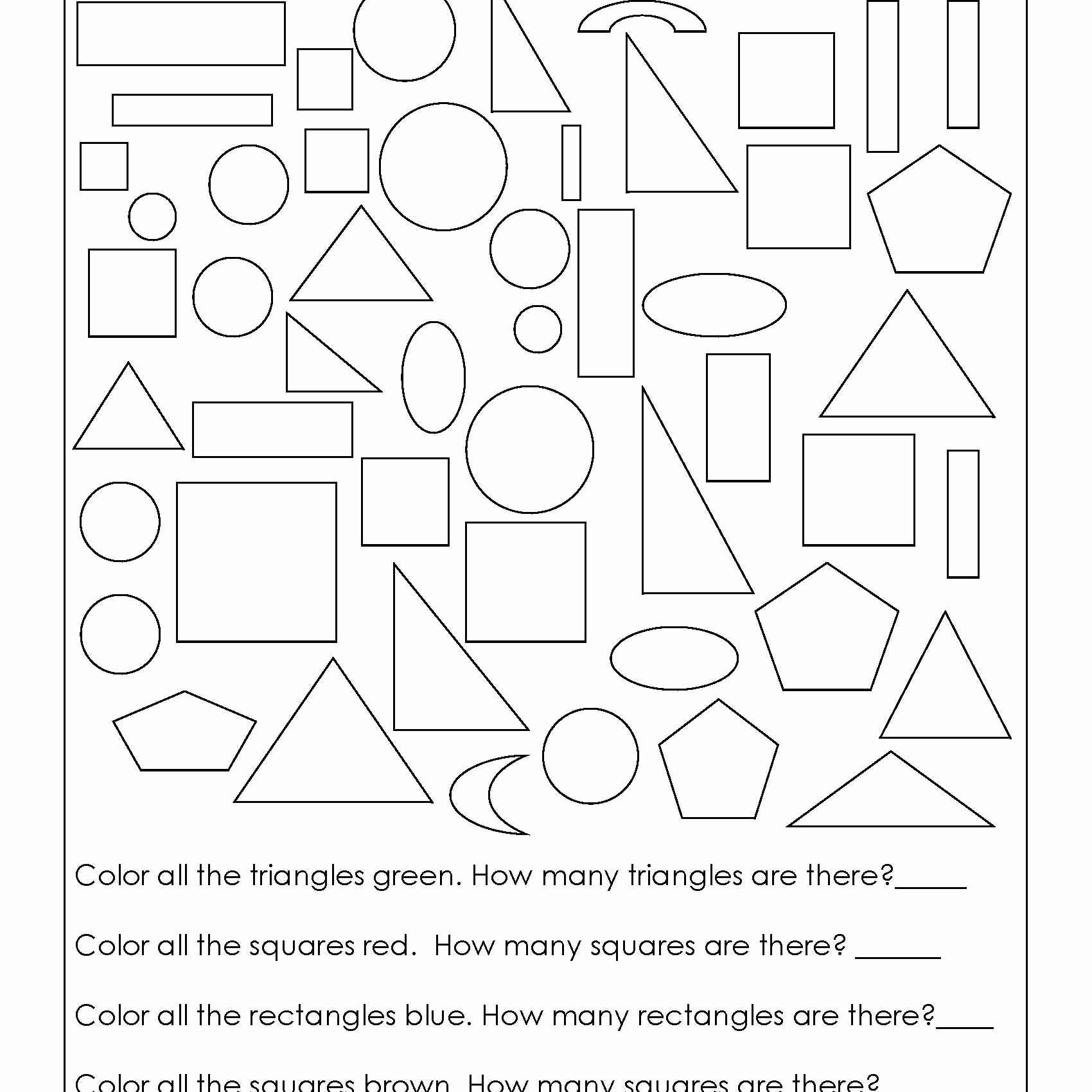 Coloring Math Activities For Preschoolers In With