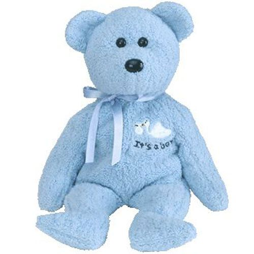 8.5 Inch Ty Beanie Baby ~ BABY BOY the Teddy Bear MWMT