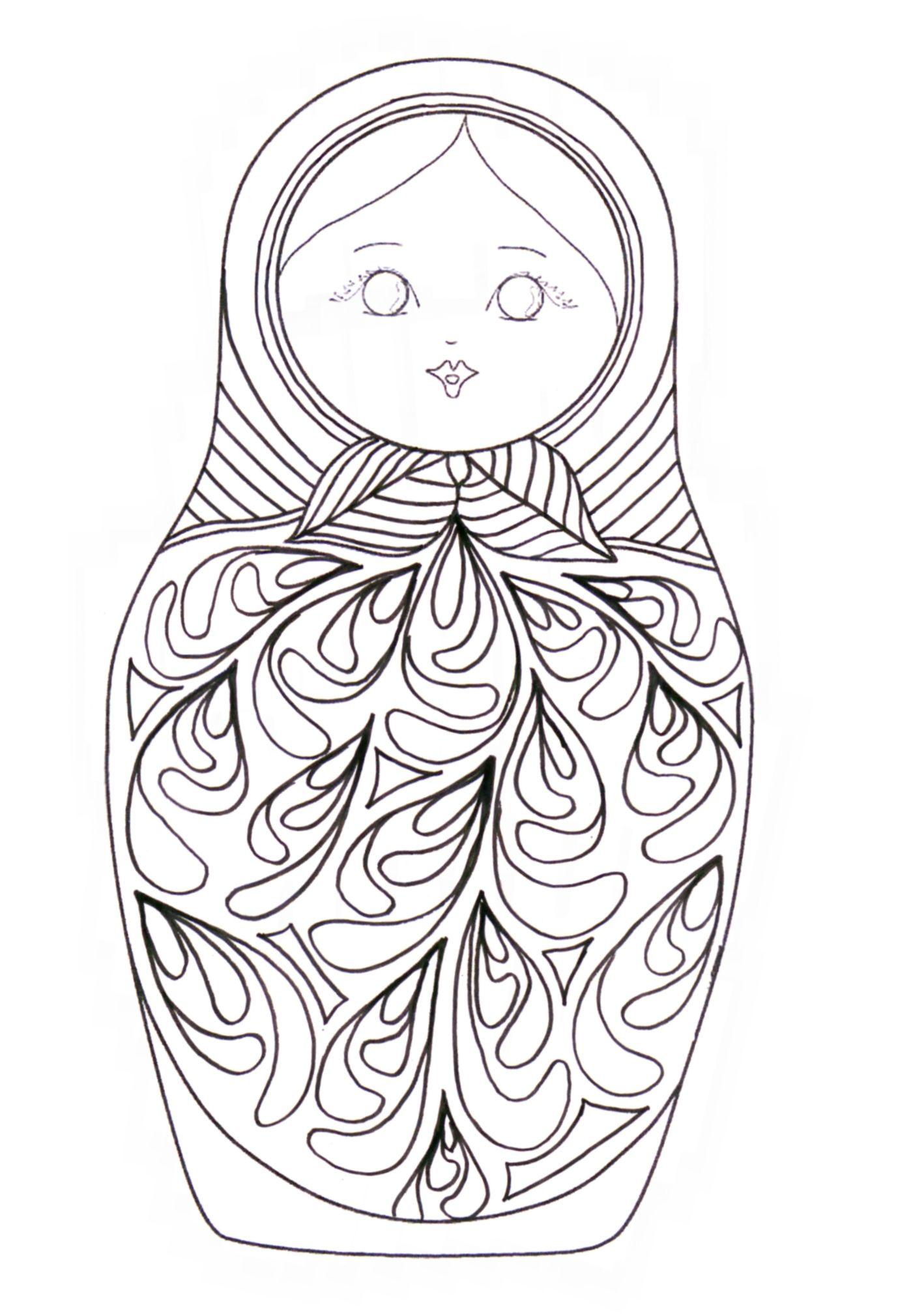 Matryoshka - coloriage | Russian martyoshka dolls | Pinterest ...