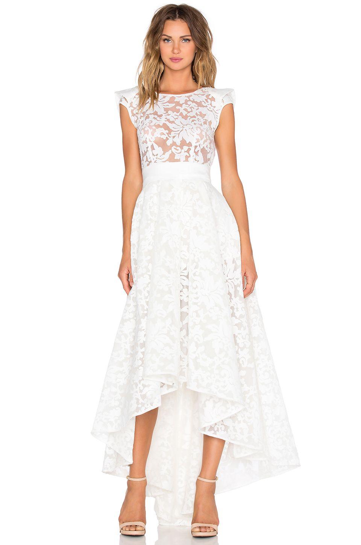 Bronx and Banco Boheme Gown in White | REVOLVE - xmas photos ...