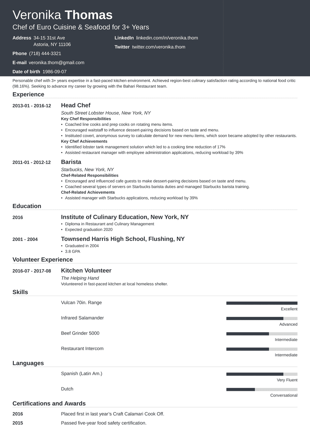 Click Here To Download This Executive Sous Chef Resume Template Http Www Resumetemplates101 Com Hospit Chef Resume Sample Resume Templates Restaurant Resume