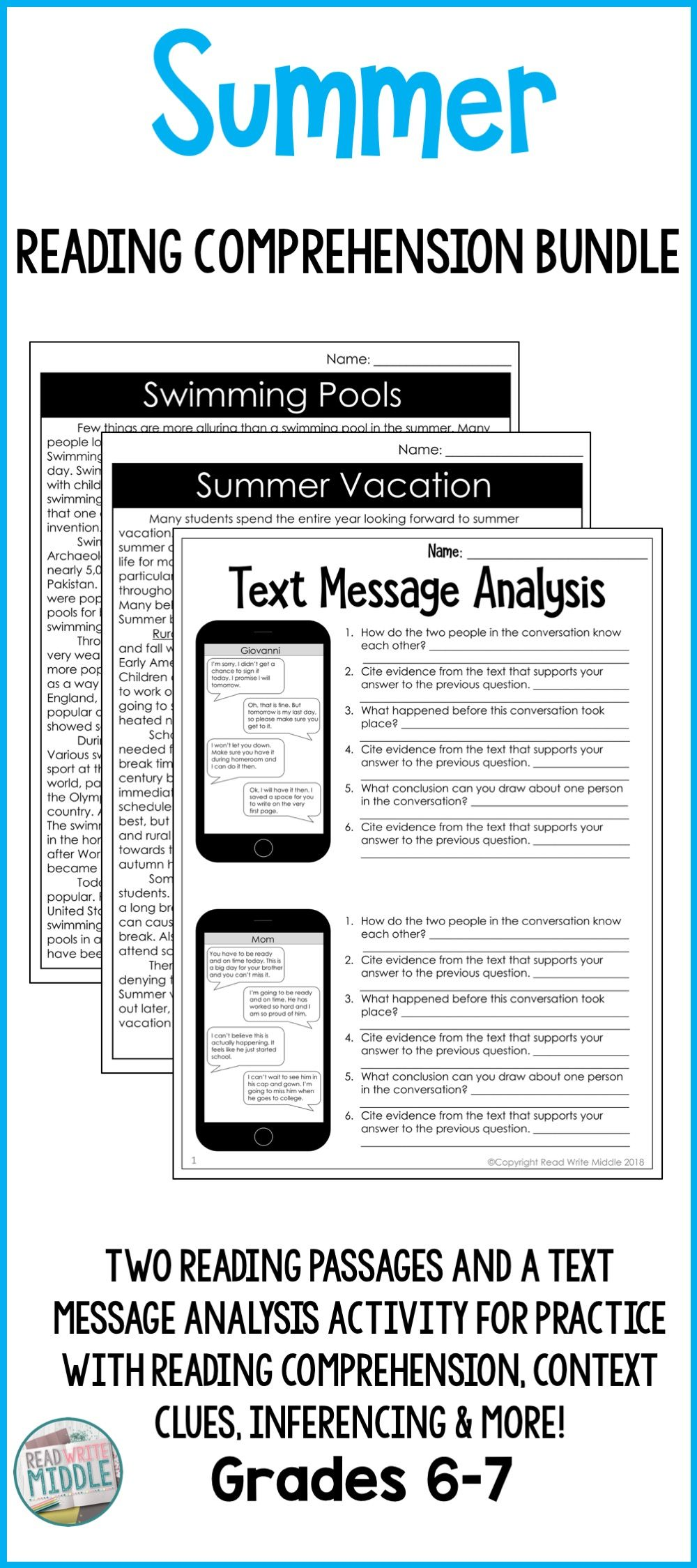 - End Of The Year Activities Reading Comprehension Bundle Reading