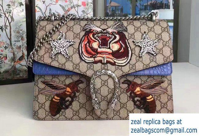b884d4c93f6f Gucci Dionysus Embroidered Tiger and Bee Shoulder Medium Bag 403348/400235  2017
