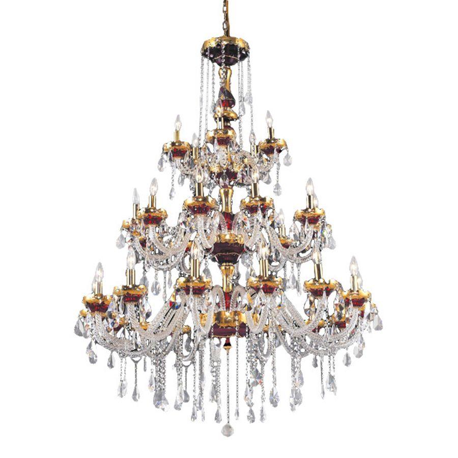 Shop Elegant Lighting Alexandria 30-Light Gold Crystal