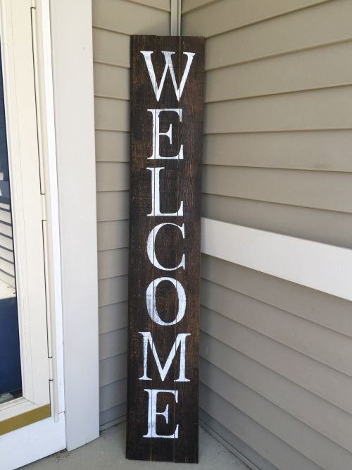 Diy Barnwood Welcome Sign Woodworking Projects Diy Barn