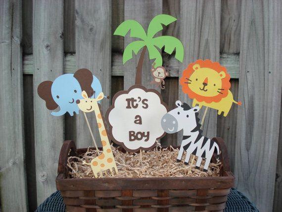 Jungle Birthday Centerpiece Safari Birthday By SophiasCelebrations, $20.00. Jungle  Theme Baby ShowerJungle ...