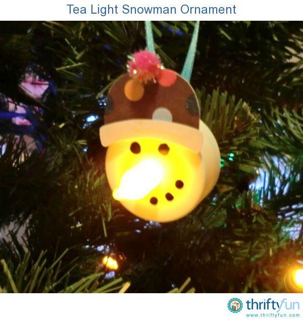 Tea Light Snowman Ornament Snowman, Ornament and Teas