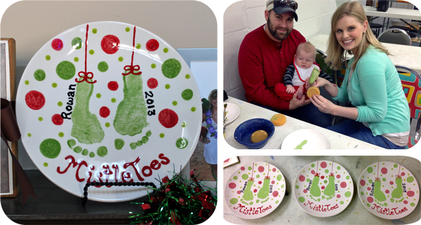 Creative Ideas for Capturing Baby's Milestones #mistletoesfootprintcraft