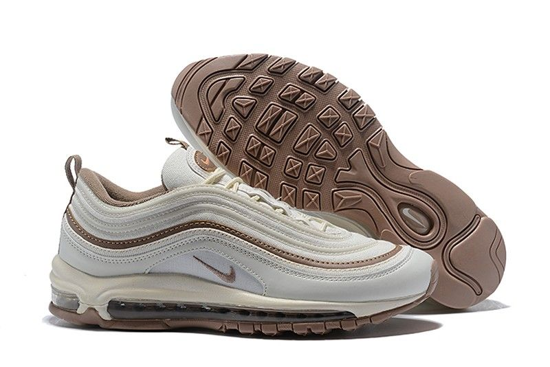 bfaf0695d8ee Nike Air Max 97 Premium 917646-004 Light Bone Diffused Taupe-Sepia Stone  Men s Running Shoes