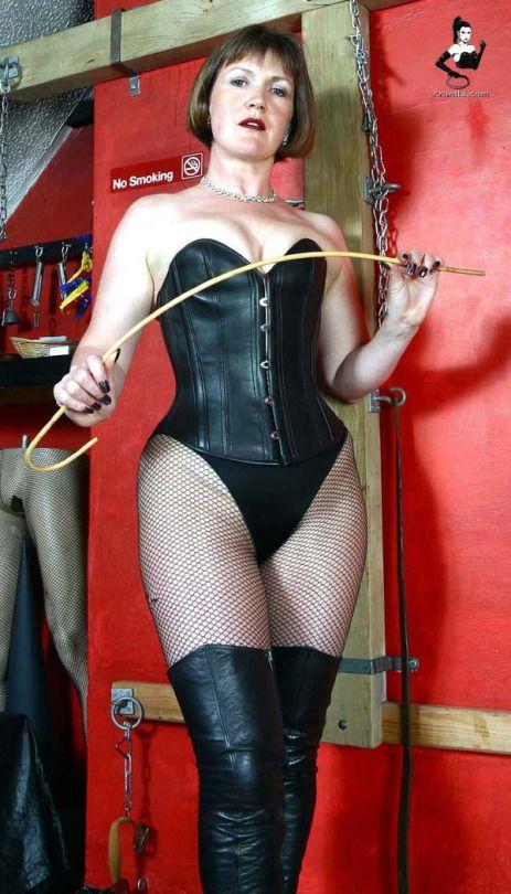 Fishnet domme mistress strapon her sub 3