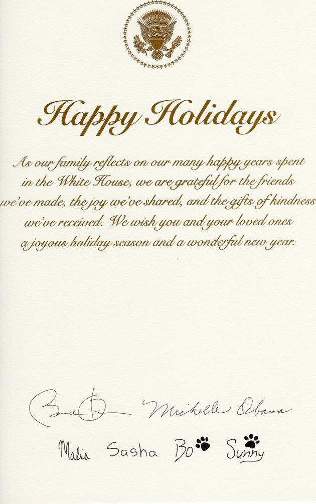 Obamas Send Out Their Last Christmas Card From The White House | The ...
