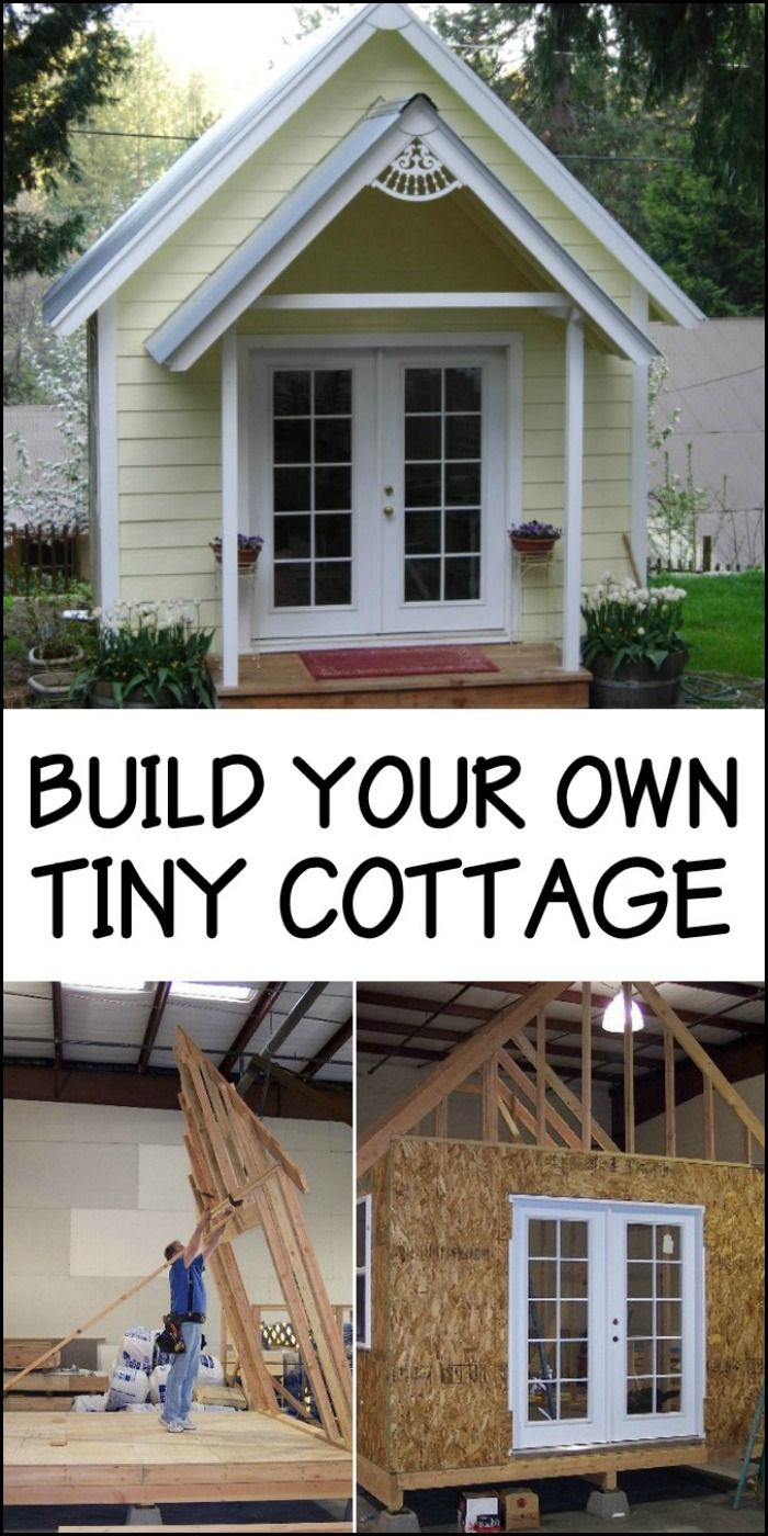 Grand designs angela started building her hut in the garage at home - Tiny House Cabin Build Your Own Tiny Cottage And Use It For Whatever Purpose You Desire