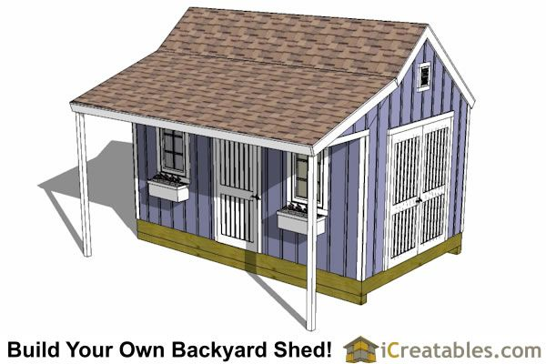 10x16 Colonial Garden Shed With Porch Plans Shed With Porch Shed Porch Plans