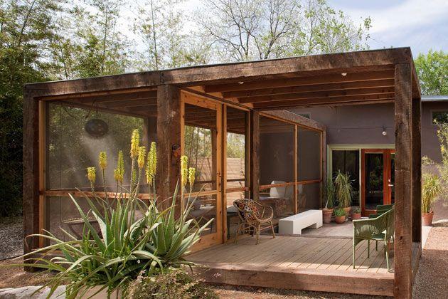 Outdoor room casas prefabricadas de madera Pinterest Terrazas