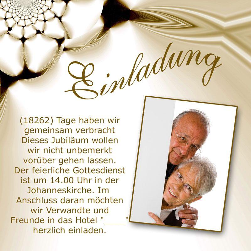 Einladung Goldene Hochzeit Einladungskarten Goldene