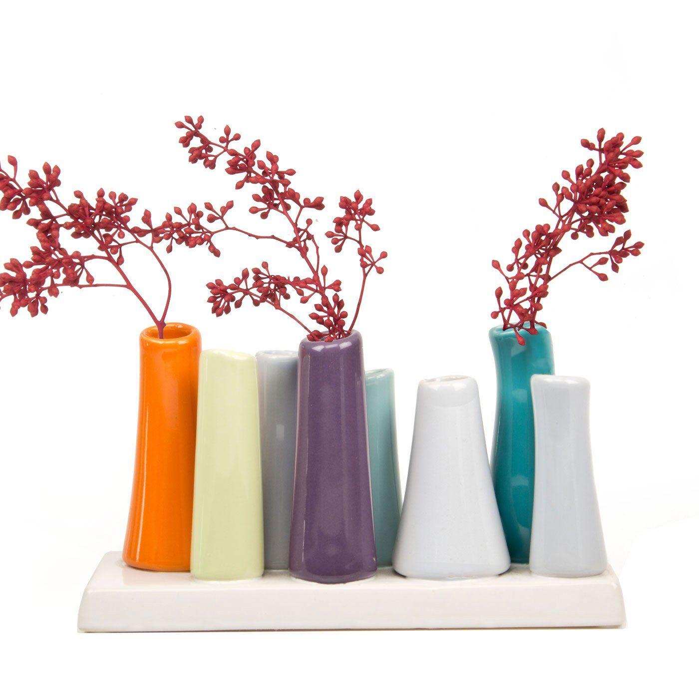 Chive pooley 2 ceramic flower vase 8tube shape