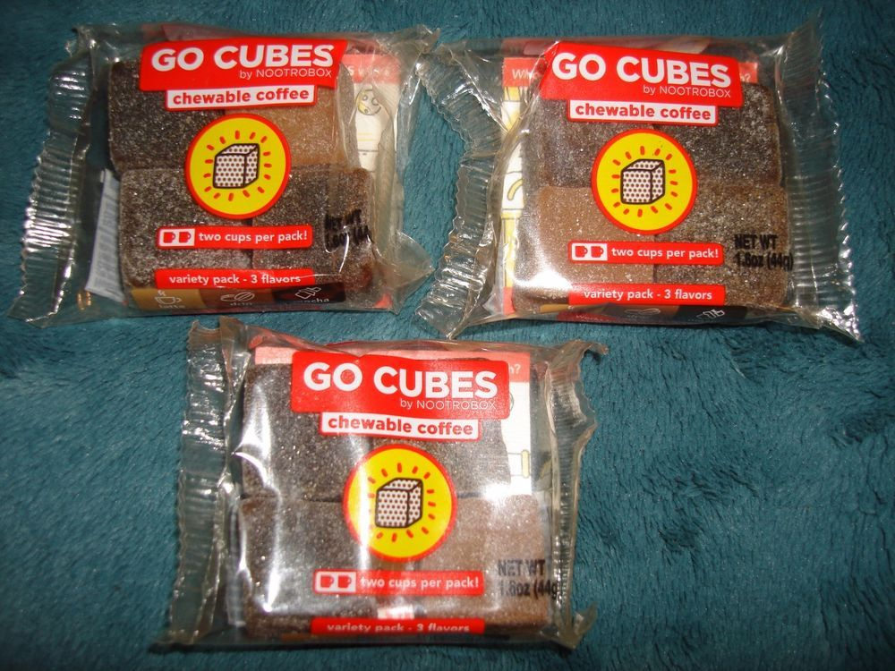 Go Cubes Chewable Coffee 3 X 4 Packs By Nootrobox Variety Pack 3