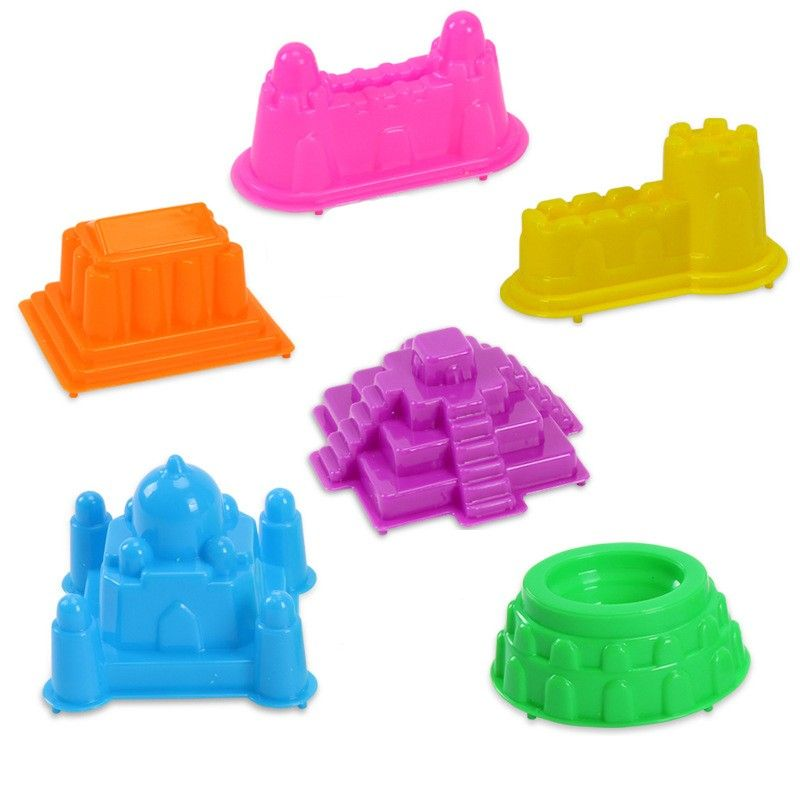 6Pcs Assorted Sand Clay Mold Children Educational Play Sand Toy  New 2 DO