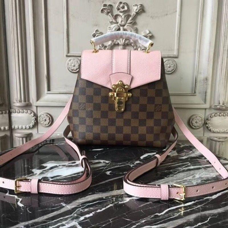 4e99e7bbf1f6 Louis Vuitton N42262 Clapton Backpack Damier Ebene Canvas Magnolia   Louisvuittonhandbags
