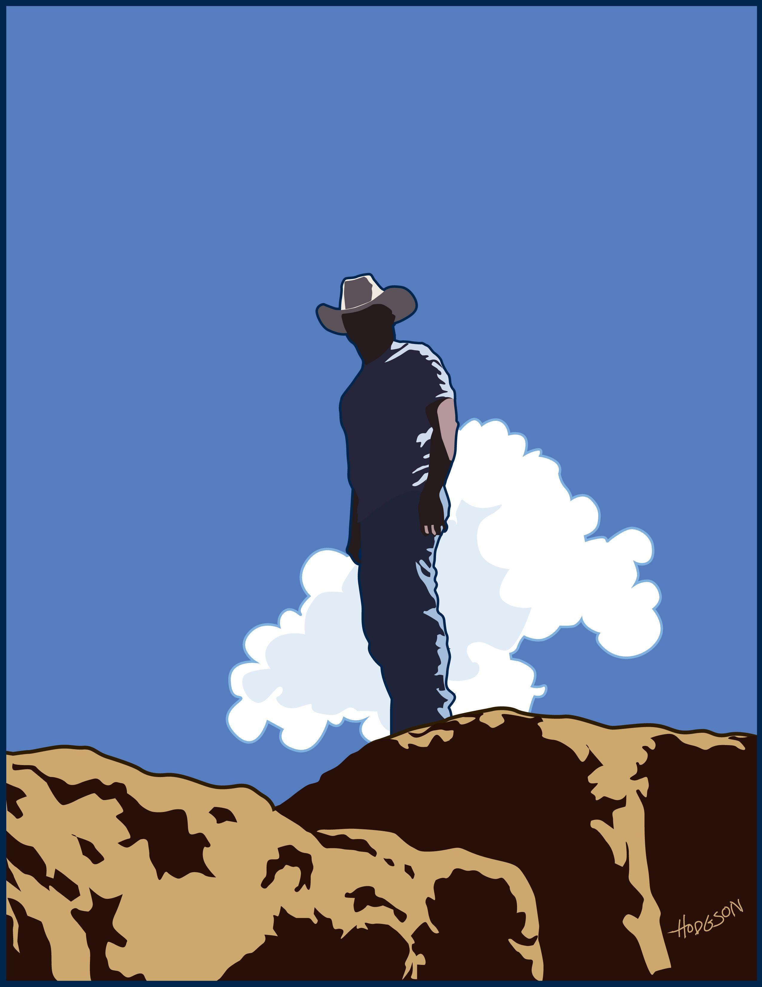 Cowboy and cloud