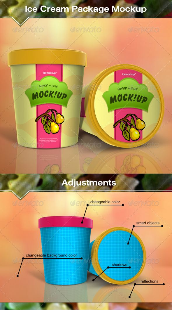 Ice Cream Package Mockup Ice Cream Packaging Ice Cream Design Packaging Template