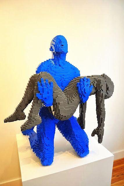 Een Legokunstenaar.