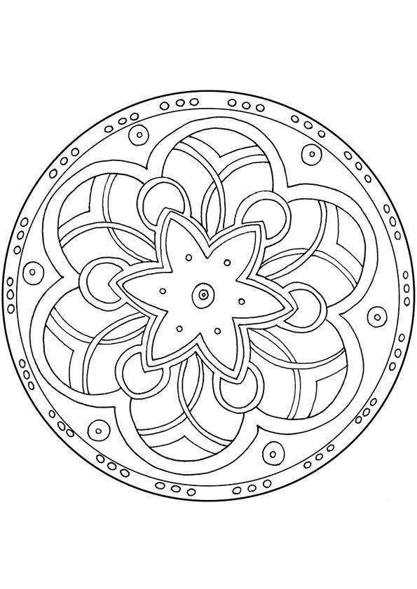 Mandala kleurplaten   геометрия   Pinterest   Mandalas, Ornamentos y ...