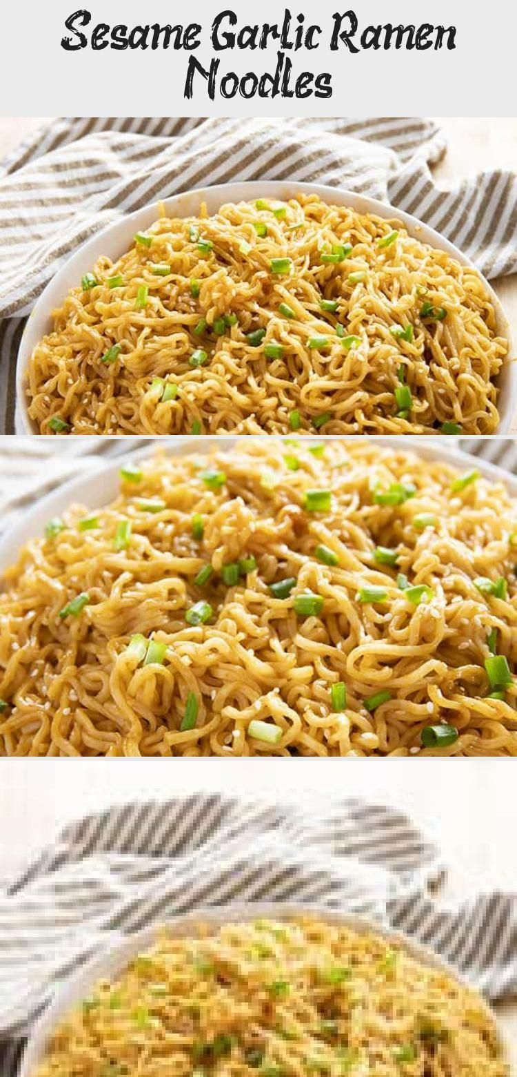 Sesame Garlic Ramen Noodles Recipe The Best Ramen Noodle Recipe