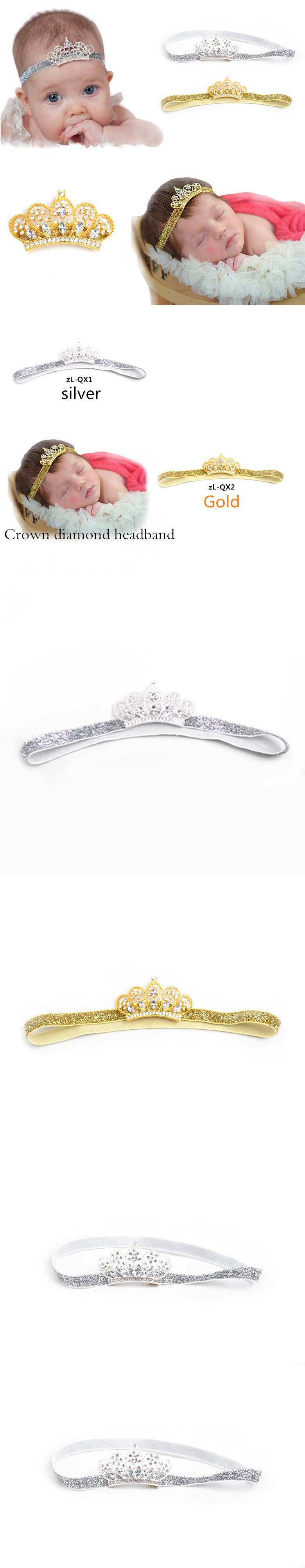 Lovely princess crown headband baby girl hair accessories tiara
