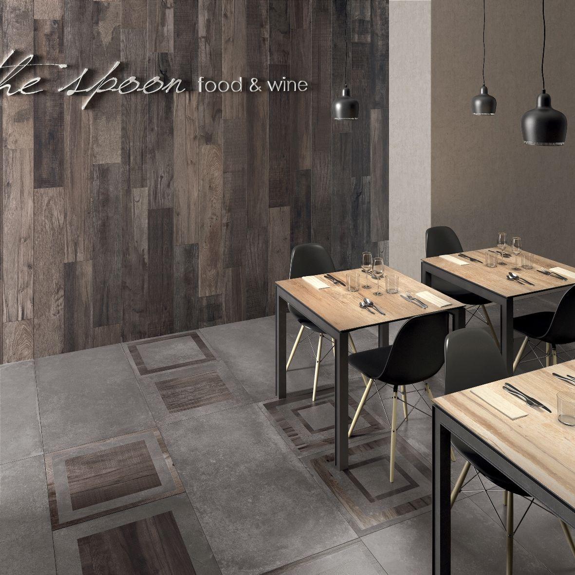 Questo ristorante un esempio di crossover abkemozioni wall dolphin coal floor unika smoke - Piastrelle decorative per pareti ...
