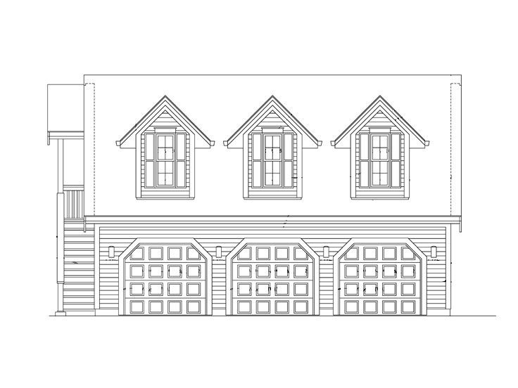 057g 0018 Three Car Garage Plan With Studio Apartment Carriage House Plans Garage Workshop Plans Carriage House