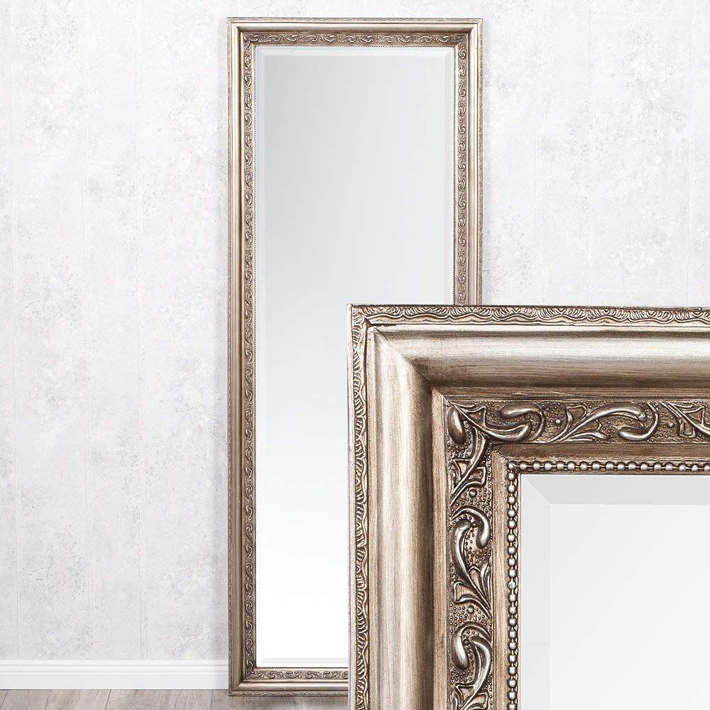 Lebenswohnart Wandspiegel Argento Barock 140x50cm Spiegel Silber