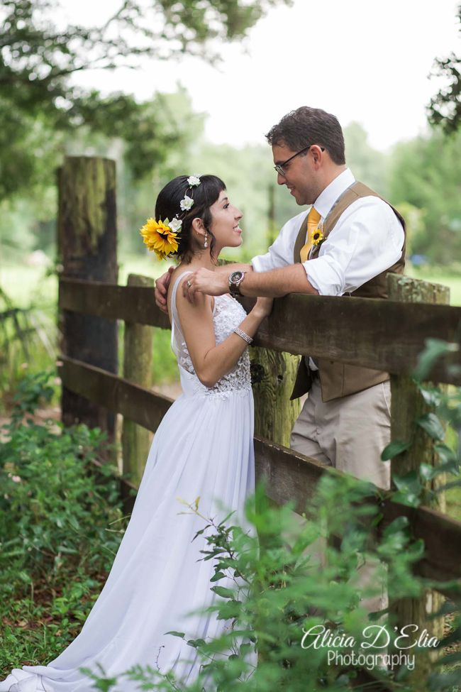 Sweet Bride And Groom Photography Rustic Wedding Idea Harmony Gardens Florida Alicia DElia
