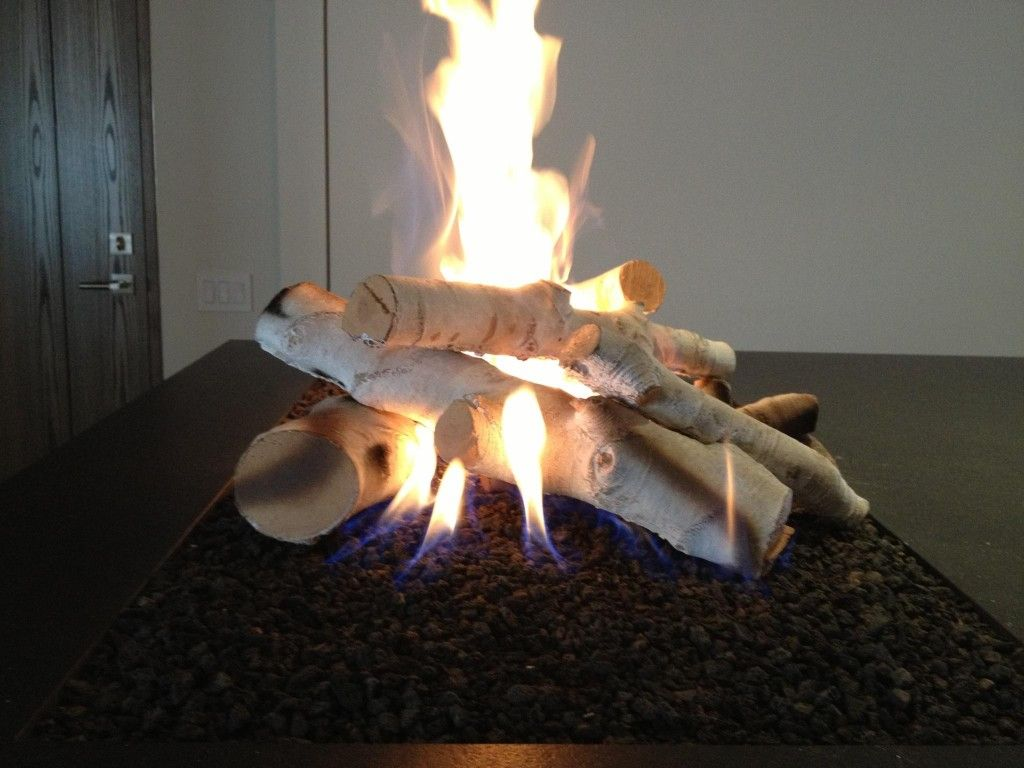 Black Stone & Birch logs for Gas Fireplace | Home Decor ...