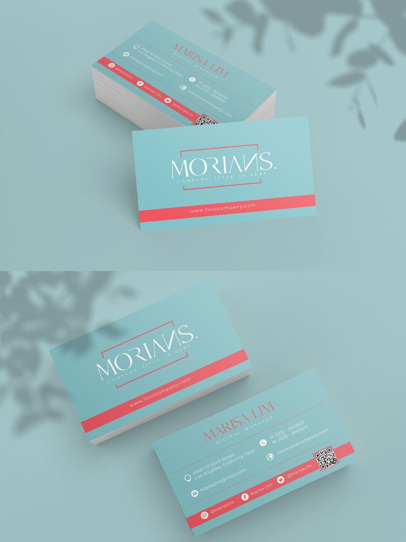 Morian Business Cards Elegant Business Cards Business Cards Business Card Template