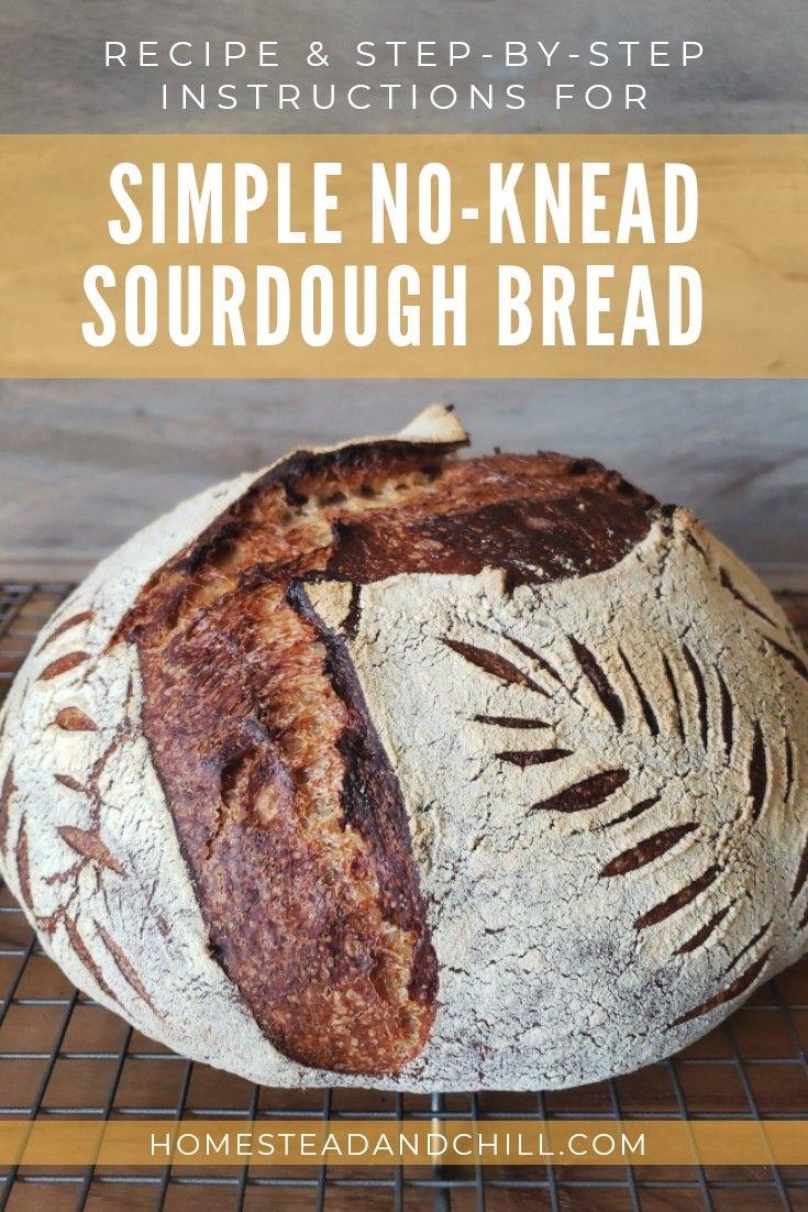 Simple NoKnead Sourdough Bread Recipe Sourdough bread